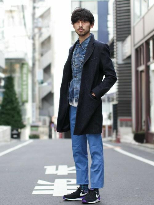 デニムジャケット着こなしメンズのデニムジャケット「nano・universe vintage加工Gジャン」を使ったコーディネート