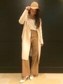 yuka.abeさんの「ロングニットコート(RANDA ランダ)」を使ったコーディネート