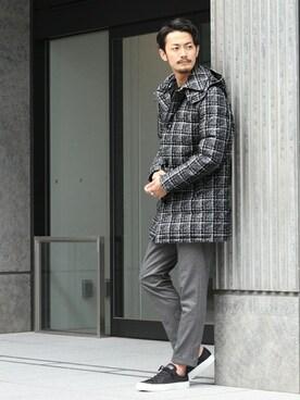 EDIFICE新宿店|DAICHIさんの「◇LIMONTA フーデッドダウン(EDIFICE)」を使ったコーディネート