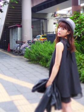 舟山久美子♡くみっきーさんの「バックチュールライダースJK(MICOAMERI|ミコアメリ)」を使ったコーディネート