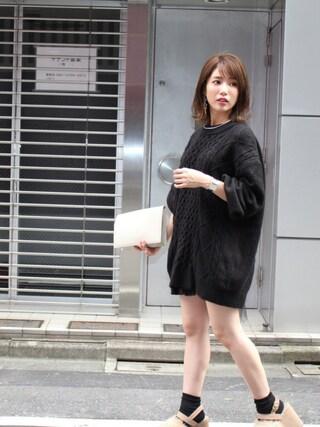 舟山久美子♡くみっきーさんの「フリルプリーツショートパンツ(MICOAMERI|ミコアメリ)」を使ったコーディネート