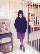 今日は雨なので店内にて。 室内だけど、出勤直後で寒過ぎて、アウター脱げず…(^^;;