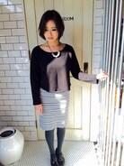 かなり久々の投稿^ ^  春用に買ったスカートだけど、組み合わせが、まだ冬っぽいかもですね(^^;;