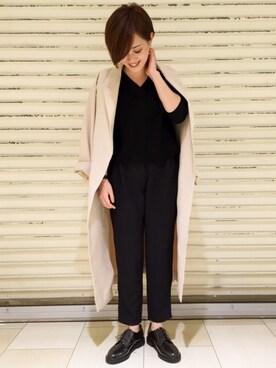 apart by lowrys /札幌パルコ店|sumireさんの「TRPUガウンコート(apart by lowrys|アパートバイローリーズ)」を使ったコーディネート