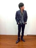 TAKA-Qスタッフさんの「レノマ/renoma HOMME ジャージージャケット(renoma|レノマ)」を使ったコーディネート