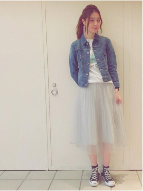 アナザーエディション ラフォーレ原宿店 chiharu hanaokaさんのスカート「■■■チュールスカート/AEBFC チュール SK(Another Edition アナザーエディション)」を使ったコーディネート