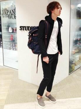STUDIOUS MENS...�b�͖삳��̃`�m�p���c�uSTUDIOUS �X�g���b�`�`�m�e�[�p�[�h�A���N���J�b�g�p���c MADE IN JAPAN.�iSTUDIOUS�b�X�e���f�B�I�X�j�v���g�����R�[�f�B�l�[�g