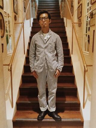 ユナイテッドアローズ 原宿本店 メンズ館|takeo yoshidaさんの(SCYE BASICS|サイベーシックス)を使ったコーディネート