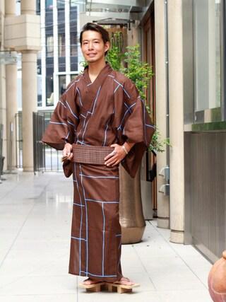 ユナイテッドアローズ 原宿本店 メンズ館|takeo yoshidaさんの「誉 浴衣 火消し(UNITED ARROWS|ユナイテッドアローズ)」を使ったコーディネート