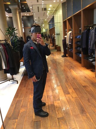 ユナイテッドアローズ 原宿本店 メンズ館|takeo yoshidaさんの「BB CLOTH VEST / LOW NECK(ANATOMICA|アナトミカ)」を使ったコーディネート