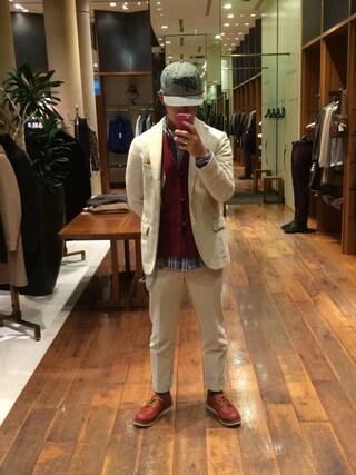 ユナイテッドアローズ 原宿本店 メンズ館|takeo yoshidaさんの「UAB コーデュロイ 3B ジャケット ◆(UNITED ARROWS|ユナイテッドアローズ)」を使ったコーディネート