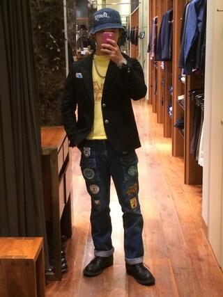 ユナイテッドアローズ 原宿本店 メンズ館|takeo yoshidaさんの「THE STYLIST JAPAN(ザ スタイリスト ジャパン) H/S JKT BLK(The Stylist Japan|ザスタイリストジャパン)」を使ったコーディネート