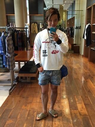ユナイテッドアローズ 原宿本店 メンズ館|takeo yoshidaさんの「16SCS-SS-RACING LONG TEE(AAA)(Sunny C Sider|サニーシーサイダー)」を使ったコーディネート
