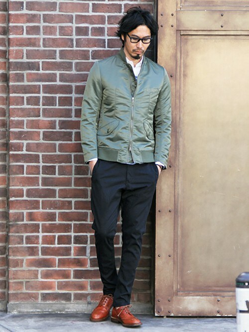 "THE DUFFER OF ST.GEORGE | JEEさんのパンツ「The DUFFER of ST.GEORGE COOL MAX ""SLENDER"" TROUSERS:テーパードパンツ」を使ったコーディネート"