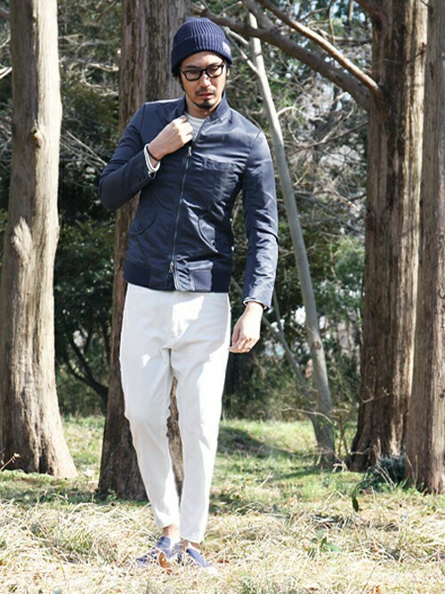 THE DUFFER OF ST.GEORGE | JEEさんのパンツ「The DUFFER of ST.GEORGE DUFFER×LEE TAPERED PAINTER PANTS:LEEペインターパンツ」を使ったコーディネート