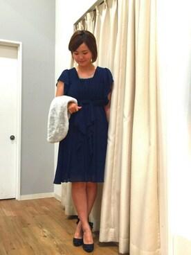 INTERPLANET WINGS 浜松市野店|りさこさんの「袖ラッフルリボンドレス(INTERPLANET WINGS)」を使ったコーディネート