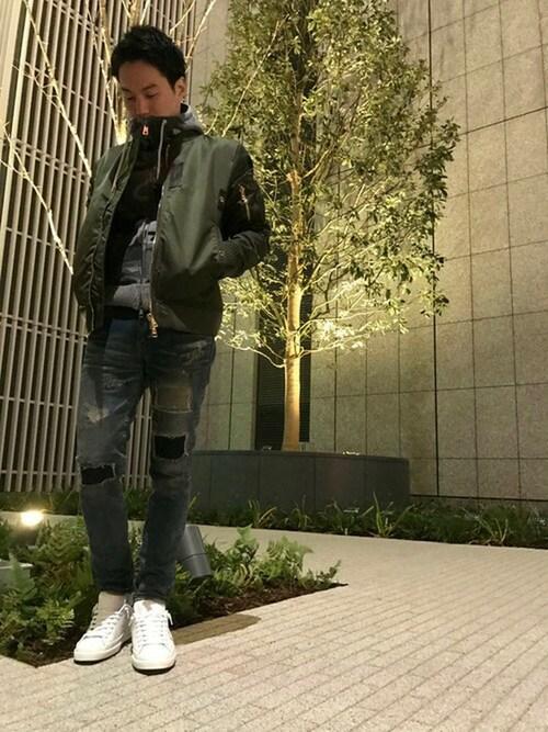 akihiro        okadaさんの「PHILIPPE MODEL/フィリップ モデル/Classic Lakers Metallic(PHILIPPE MODEL)」を使ったコーディネート