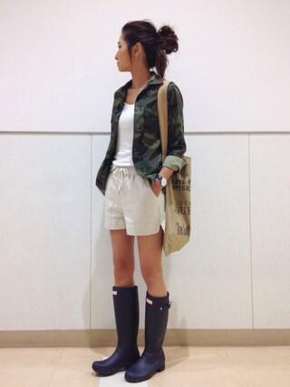 kayoさんの「ミリタリーシャツジャケット(FREAK'S STORE|フリークスストア)」を使ったコーディネート