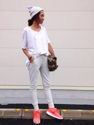 kayoさんの「SKARGORN / ポケット付 Tシャツ(Ray BEAMS|レイビームス)」を使ったコーディネート
