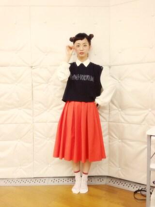 三戸なつめさんの「【i】 I TOKYO ME ショートT(i|アイ)」を使ったコーディネート