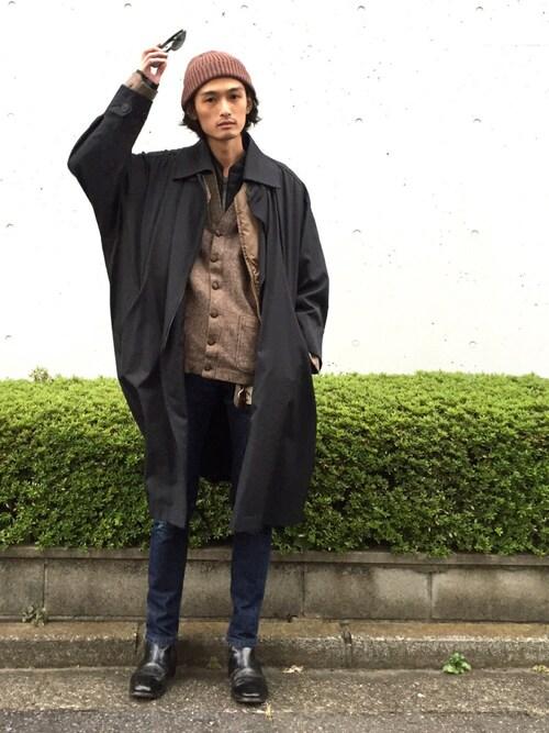 君嶋麻耶さんの「<KIJIMA TAKAYUKI(キジマタカユキ)>T RIB KNITCAP(UNITED ARROWS)」を使ったコーディネート