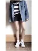 「FOREVER 21 Linen-Blend Shorts(Forever 21)」 using this a O i looks