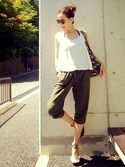 「FOREVER 21 Contrast-Paneled Joggers(Forever 21)」 using this Yukie♡i looks
