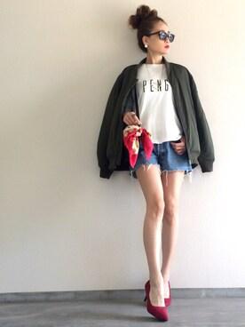 Yukie♡iさんの「PENG箔プリントタンク(Mila Owen|ミラ オーウェン)」を使ったコーディネート