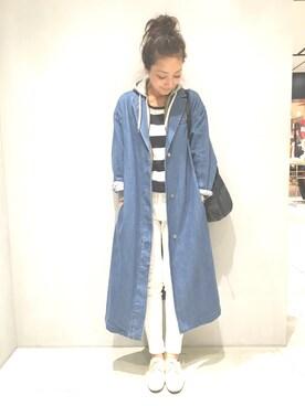 mikikoさんの「デニムチェスターコート(ル ジュン ウィメン)」を使ったコーディネート