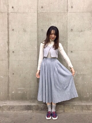 「【MODE】ラップショートビスチェ(MURUA)」 using this pinoko looks