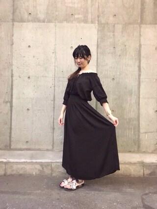 「Ray BEAMS / ペザントシシュウ マキシワンピース(Ray BEAMS)」 using this pinoko looks