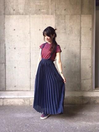 「◇【ラブリ着用】Ray BEAMS / サス付 プリーツ マキシスカート(Ray BEAMS)」 using this pinoko looks