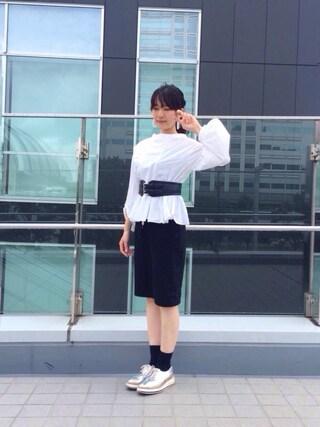 「◇RBS / バルーンスリーブ フレア プルオーバー(Ray BEAMS)」 using this pinoko looks