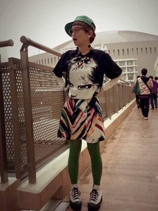 ロシアン佐藤♡hitomi♡俄羅斯佐藤さんの「ももクログッズ レディZの Tシャツ(smooch)」を使ったコーディネート