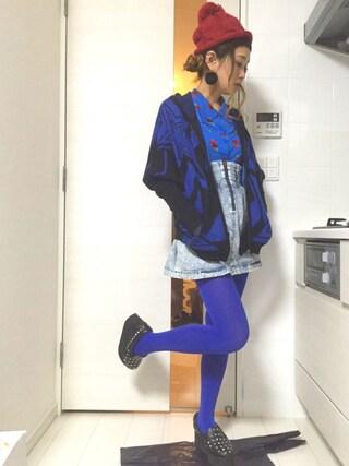 ロシアン佐藤♡hitomi♡俄羅斯佐藤さんの「ドルマンスリーブジップアップパーカー(MAISON GILFY|メゾンギルフィー)」を使ったコーディネート