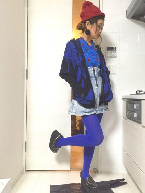 ロシアン佐藤♡hitomi♡俄羅斯佐藤さんの「ドルマンスリーブジップアップパーカー(MAISON GILFY)」を使ったコーディネート