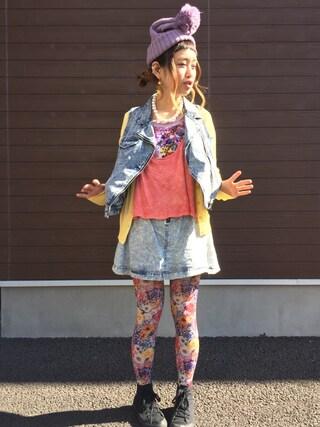ロシアン佐藤♡hitomi♡俄羅斯佐藤さんの「デニムスカート(loaf|ローフ)」を使ったコーディネート