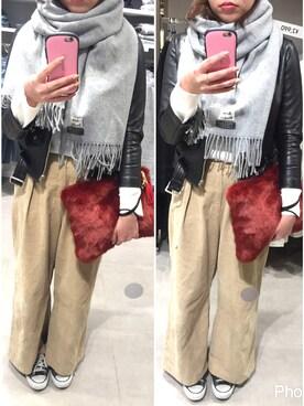 あゆらんらんさんの「【beautiful people】vintage leather riders jacket ライダースジャケット(beautiful people|ビューティフルピープル)」を使ったコーディネート