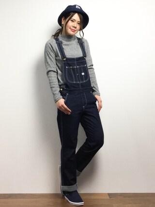 ZOZOTOWN | natsumi imaiサロペット/オーバーオール「Lee [店舗限定]HERITAGE LITE TAPERED OVERALL」Styling looks