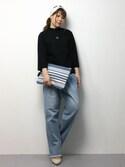natsumi imaiさんの「ボーダータッセル手織リクラッチバッグ(CRUCE anap|クルーセアナップ)」を使ったコーディネート