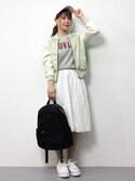 natsumi imaiさんの「ナイロンZIPバックパック/リュック【PLAIN CLOTHING】(PLAIN CLOTHING|プレーンクロージング)」を使ったコーディネート