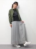 natsumi imaiさんの「【金子綾×FRAMeWORK】コラボTシャツ◆(FRAMeWORK フレームワーク)」を使ったコーディネート