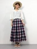 natsumi imaiさんの「ダブルベルトタイプフラットソールサンダル[CHICMUSE][春夏新作][リエディオリジナル](Re:EDIT|リエディ)」を使ったコーディネート