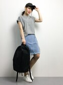 natsumi imaiさんの「Rinajour/ADAMPATEK/Brians Time/HEATHERED NYLON BACKPACK(AMPK-B026)(ADAM PATEK|アダムパテック)」を使ったコーディネート