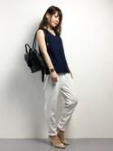 natsumiさんの「Tassel 2way Bag(SMIRNASLI|サミールナスリ)」を使ったコーディネート