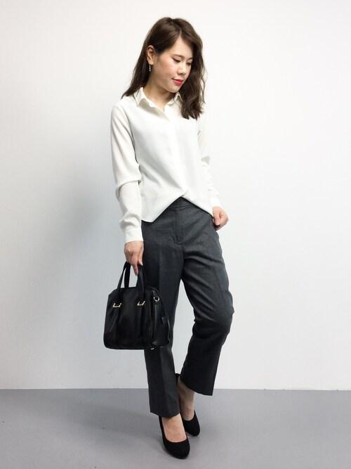 natsumiさんの「エステル コンパクトシャツ◆(Spick & Span)」を使ったコーディネート