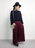 natsumi imaiさんの「リブ見えニットソープルオーバー(natural couture|ナチュラルクチュール)」を使ったコーディネート