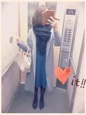 amibaさんの「WOMEN スーピマコットンVネックチュニック(7分袖)(ユニクロ|ユニクロ)」を使ったコーディネート
