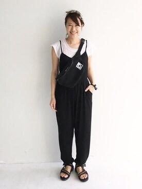 haco!|NOPUさんの「旅の救世主!3泊4日のキャミオールインワン&ゆったりTシャツセット(haco!)」を使ったコーディネート