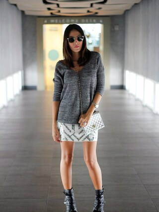nichollvincentさんの「Express Marled London Sweater in Black(EXPRESS|エクスプレス)」を使ったコーディネート